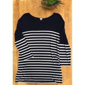 J Crew Stripe Out Tee Featherweight Medium
